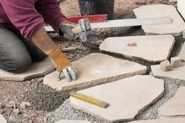 Hardscaping, patio stone laying